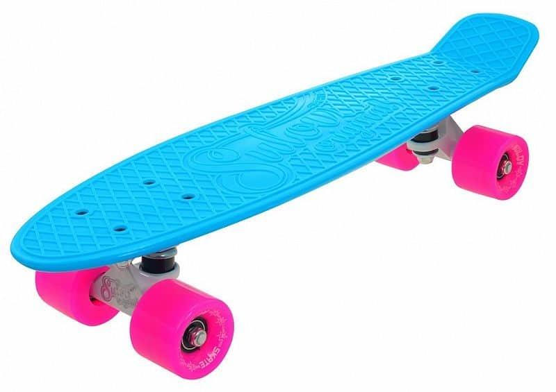 """Pennyboard - Penny board 22"""" SULOV NEON SPEEDWAY sv.modrý-růžový"""