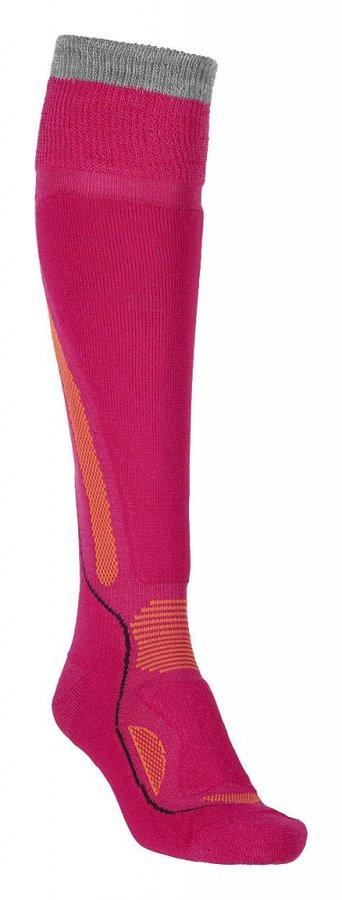 Růžové merino dámské lyžařské ponožky Ortovox - velikost 42-43 EU