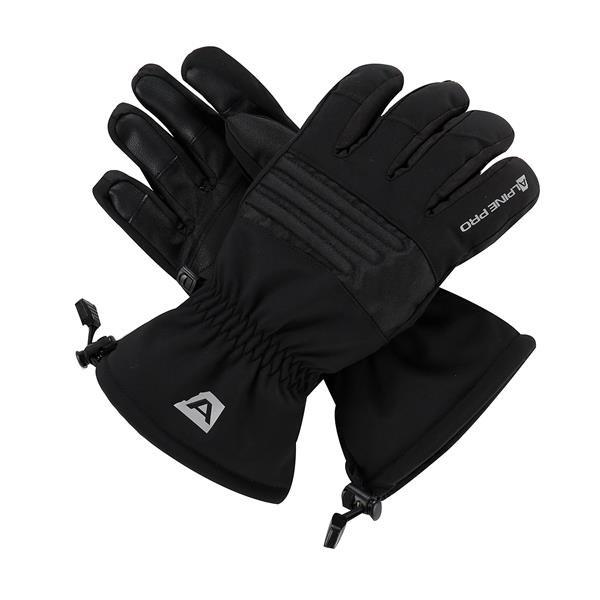 Černé lyžařské rukavice Alpine Pro