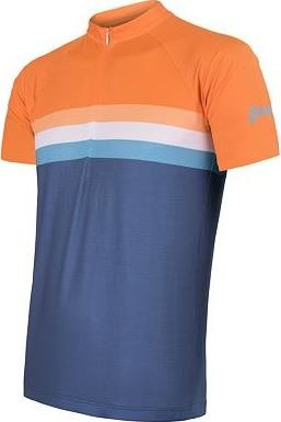 Modro-oranžový pánský cyklistický dres Sensor