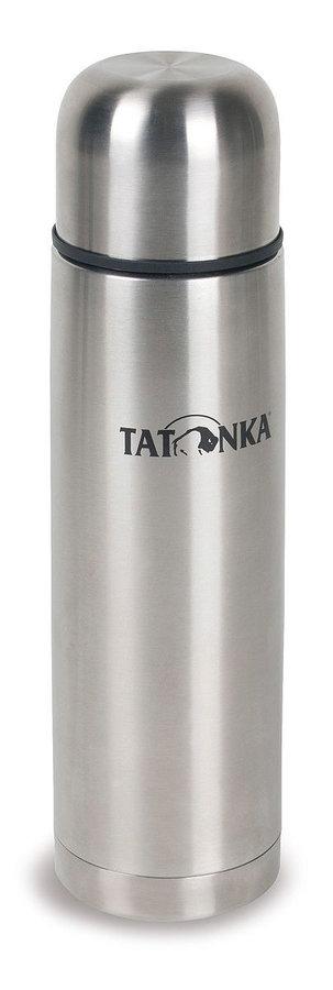 Stříbrná termoska na pití Tatonka - objem 1 l