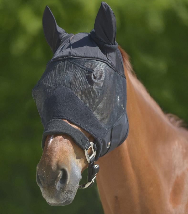 Maska proti hmyzu - Maska proti hmyzu Premium černá s ušima cob Waldhausen