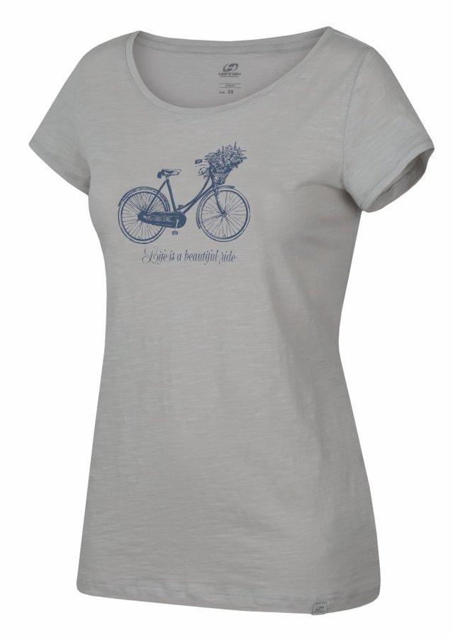Šedé dámské tričko s krátkým rukávem Hannah - velikost 36