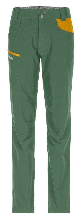 Zelené softshellové dámské turistické kalhoty Ortovox