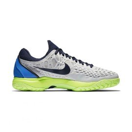 Šedá pánská tenisová obuv Air Zoom Cage 3 HC, Nike - velikost 42,5 EU