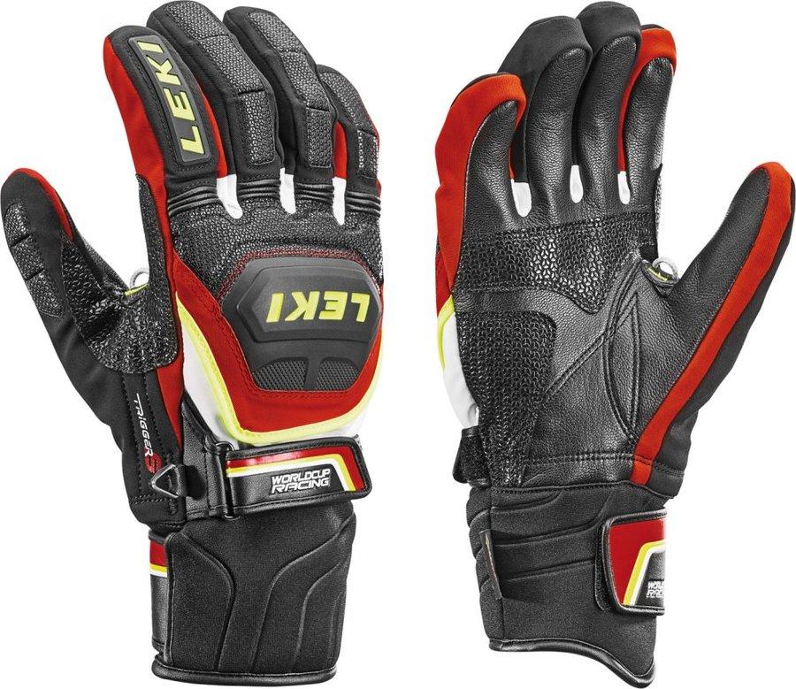 Černo-červené pánské lyžařské rukavice Leki