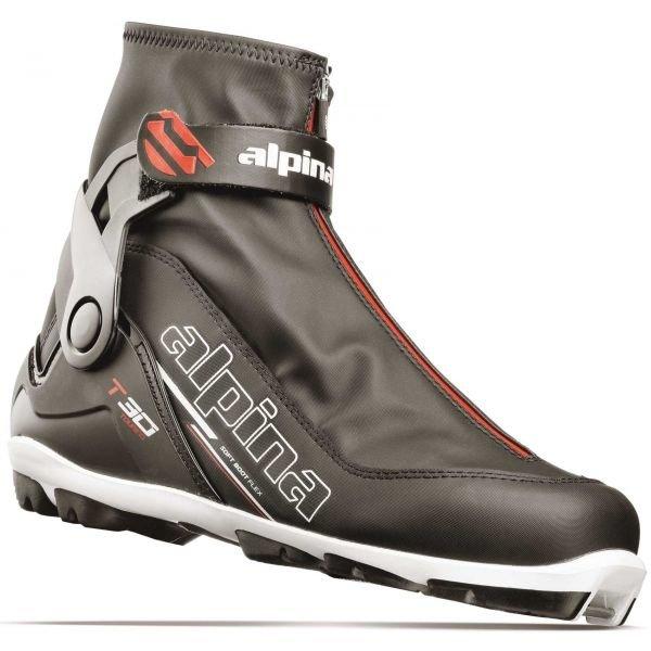 Černé pánské boty na běžky Alpina