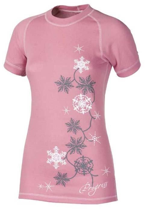 Růžové dámské funkční tričko s krátkým rukávem Progress