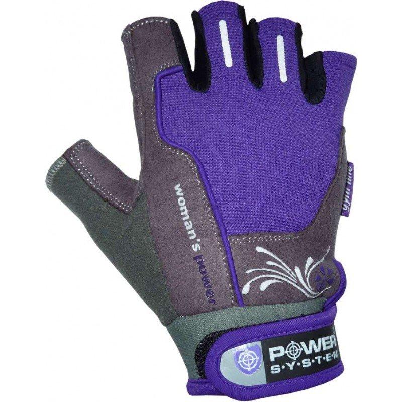 Fialové dámské fitness rukavice Power System