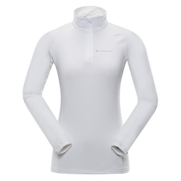 Bílá dámská funkční mikina bez kapuce Alpine Pro