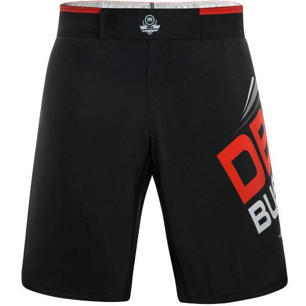 Černo-červené MMA kraťasy Bushido
