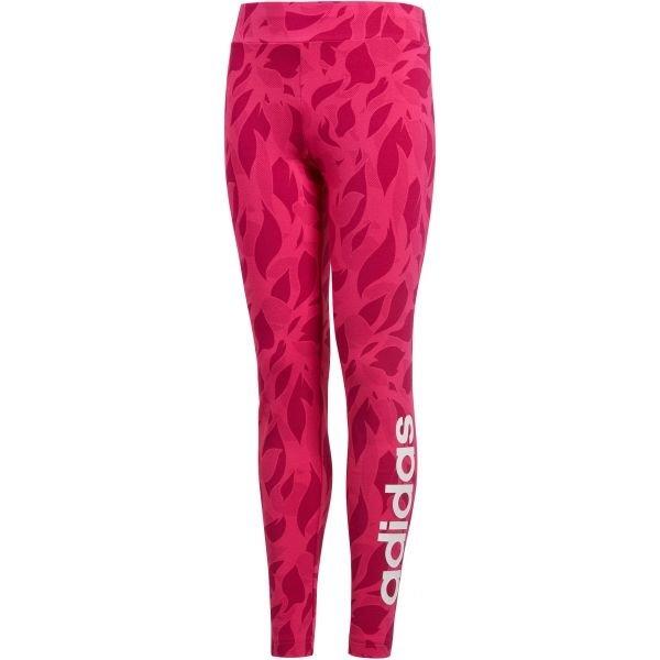 Růžové dívčí legíny Adidas - velikost 128