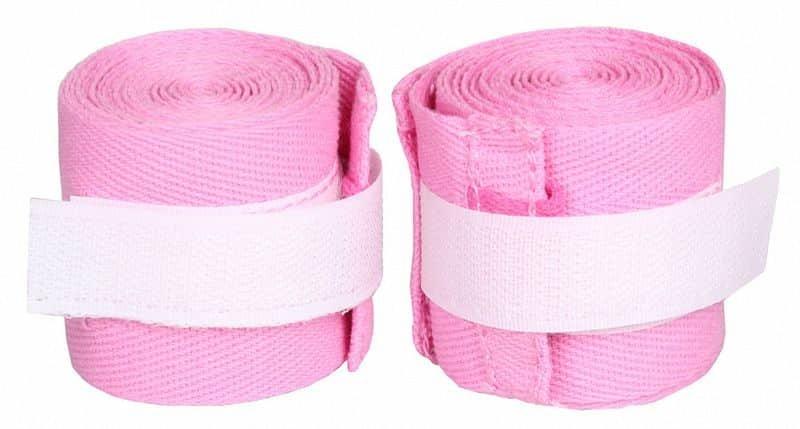 Růžová boxerská bandáž Merco - délka 2,5 m
