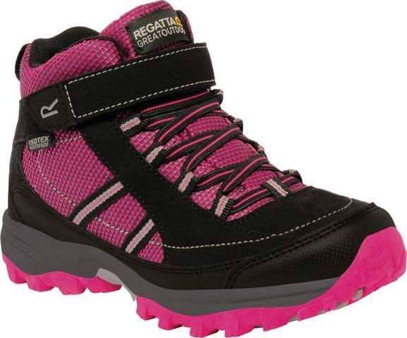 Růžové dívčí trekové boty Regatta - velikost 39 EU