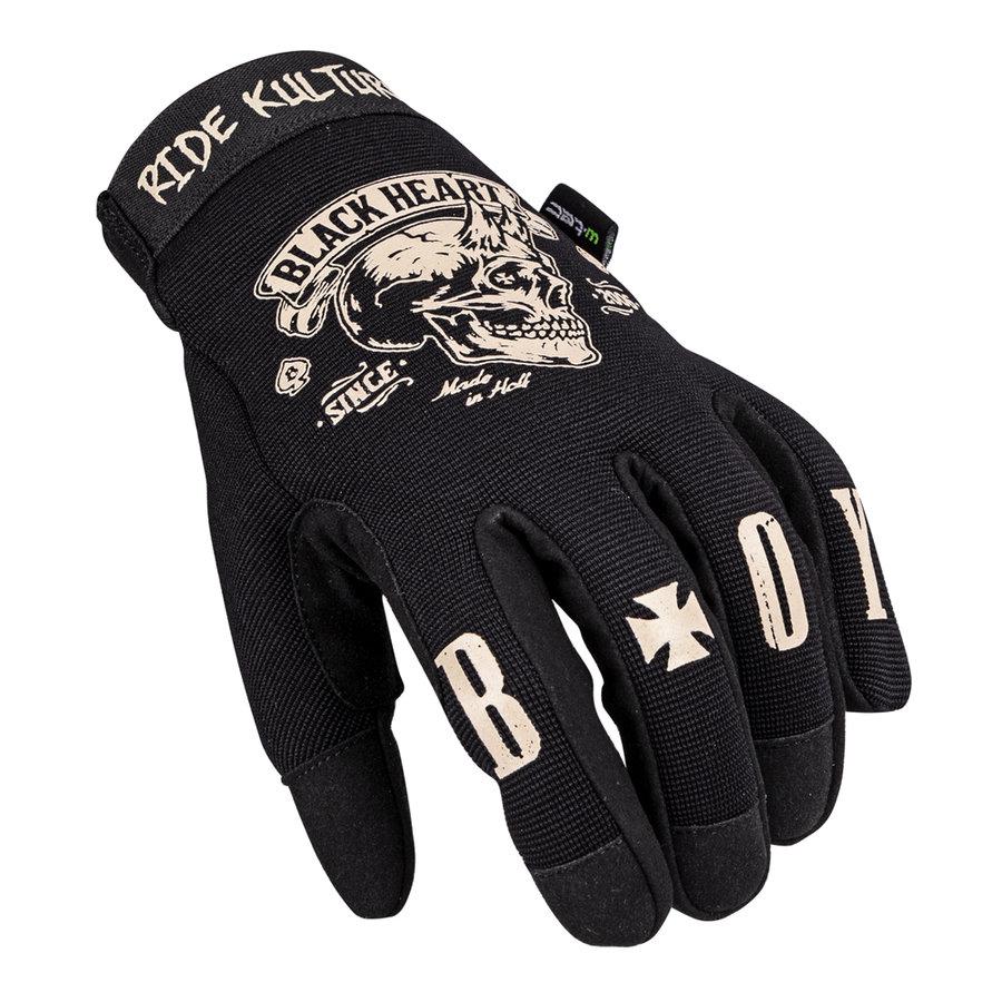 Motorkářské rukavice - W-TEC Rioter černá - M