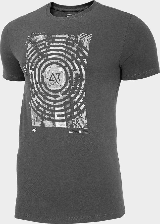 Šedé pánské tričko s krátkým rukávem 4F