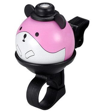Růžový dětský zvonek na kolo Myška First BIKE