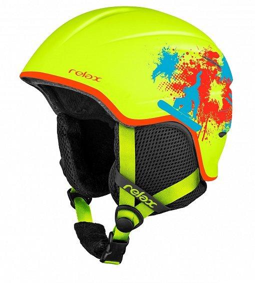 Žlutá dětská lyžařská helma Relax