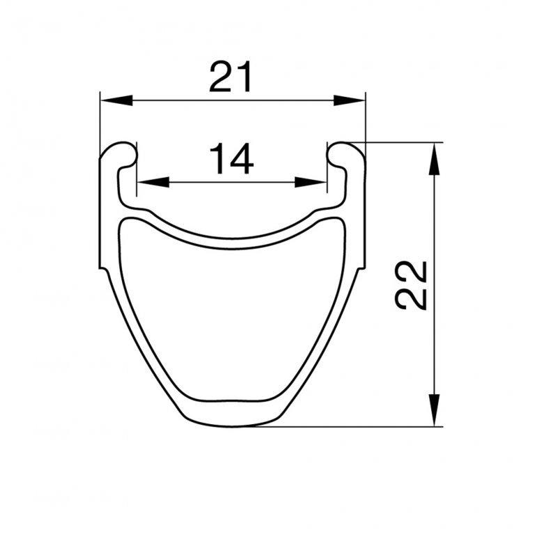 "Černý ráfek na kolo Remerx - velikost 28"""