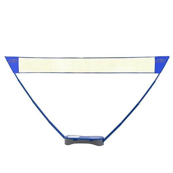 Sada na badminton - Sestava sítě badminton/tenis + 2 x badmintonové rakety ZSB 2v1 NILS