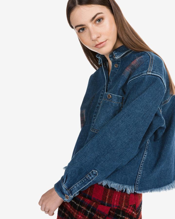 Modrá dámská košile s dlouhým rukávem Pinko - velikost M
