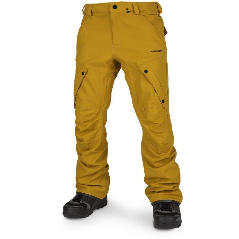Žluté pánské snowboardové kalhoty Volcom