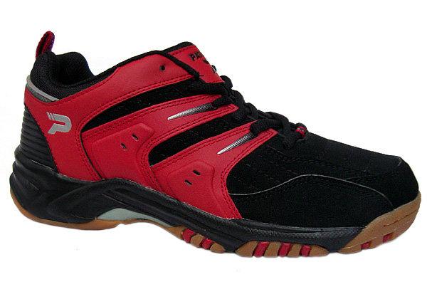 Černo-červená sálová obuv Patrick - velikost 41 EU
