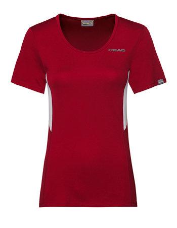 Červené dámské tričko s krátkým rukávem Head