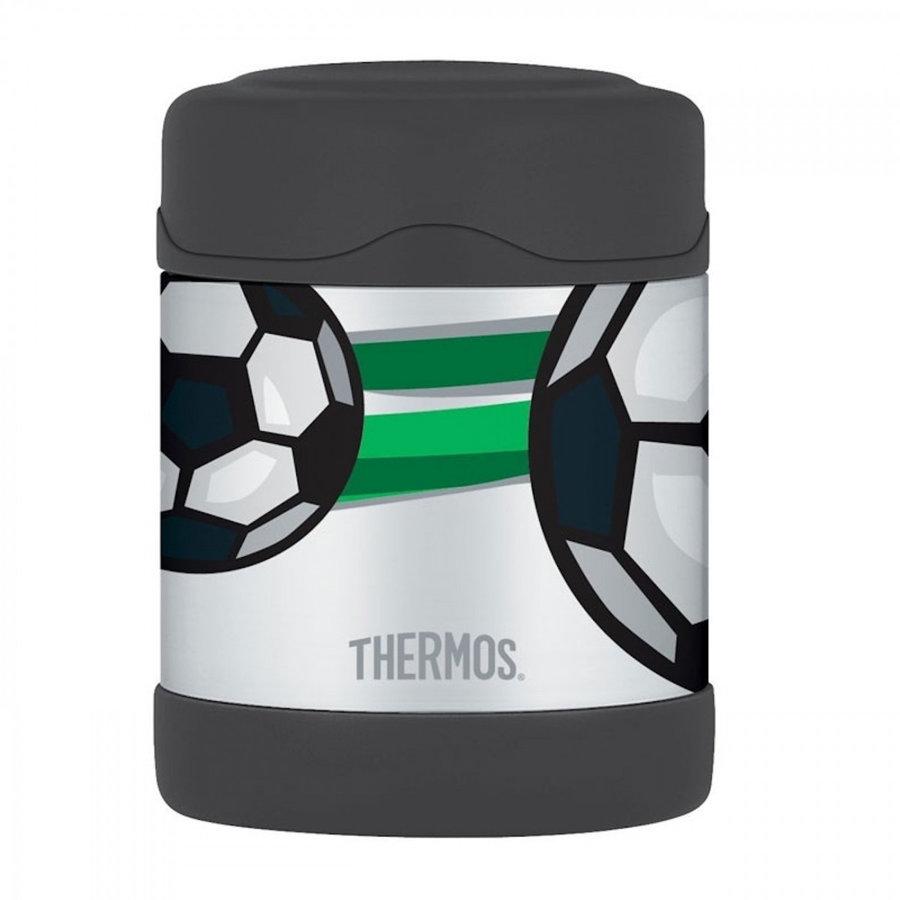 Černá termoska na jídlo Funtainer, Thermos