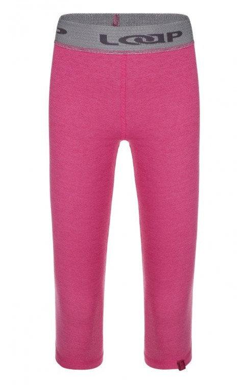 Růžové dívčí funkční kalhoty Loap - velikost 134