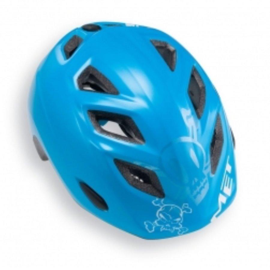 Modrá dětská cyklistická helma MET - velikost 52-57 cm