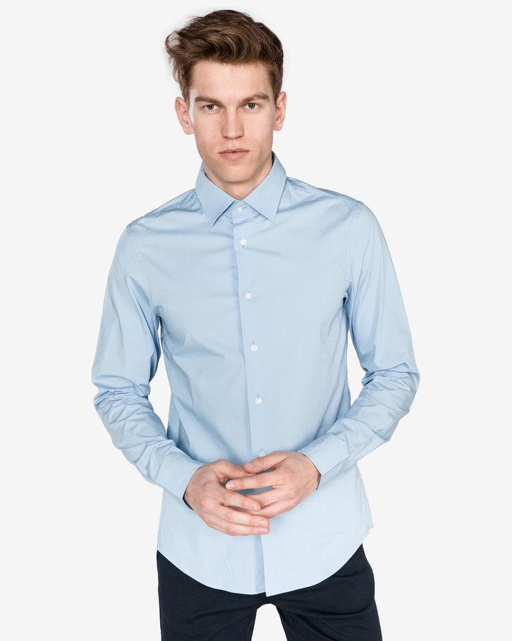 Modrá pánská košile s dlouhým rukávem G-Star RAW