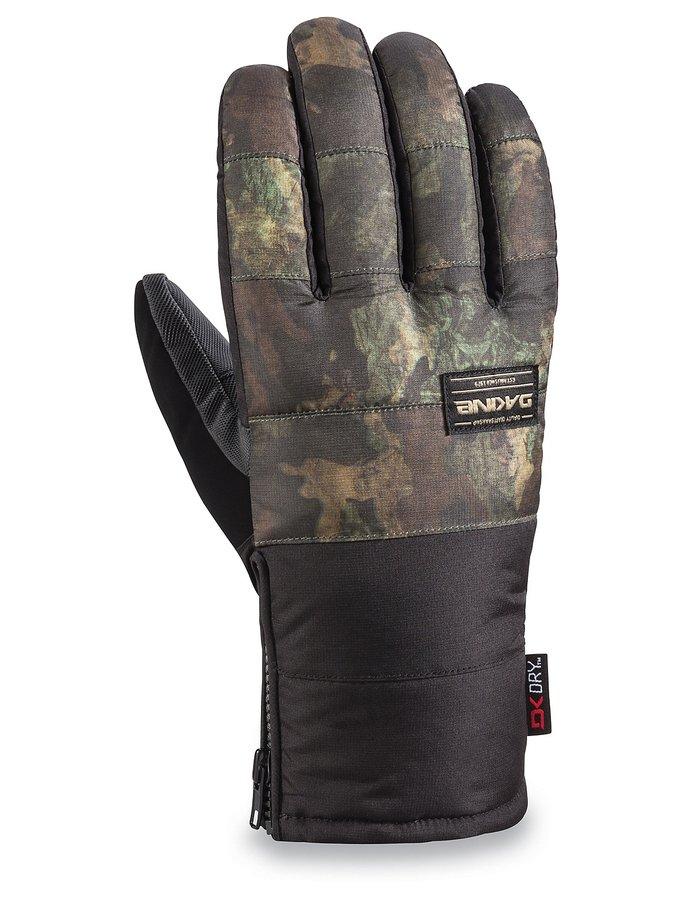 Černo-zelené pánské snowboardové rukavice Dakine - velikost S