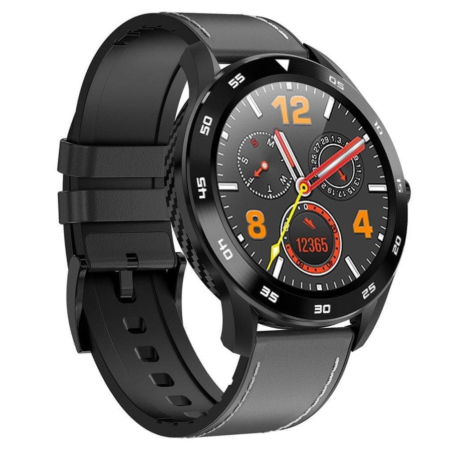 Černé sportovní analogové chytré hodinky SmartWatch DR98, Neogo