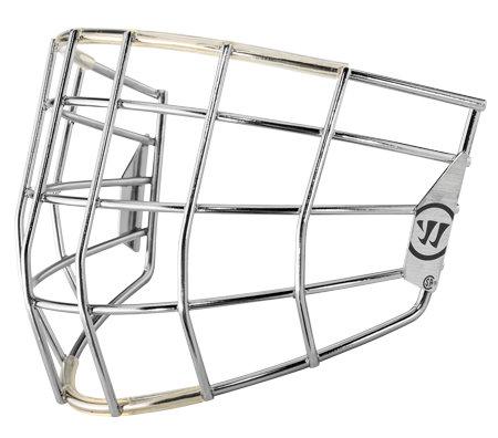 Stříbrná brankářská hokejová mřížka - senior Warrior