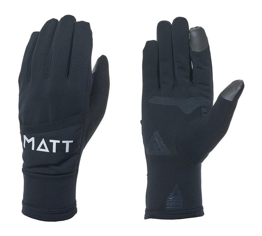 Černé zimní dámské běžecké rukavice Matt