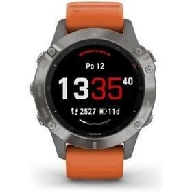 Oranžový sporttester Fenix6 Pro, Garmin
