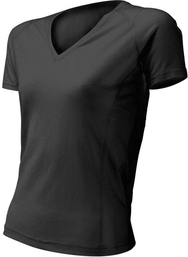 Černé dámské tričko s krátkým rukávem Lasting