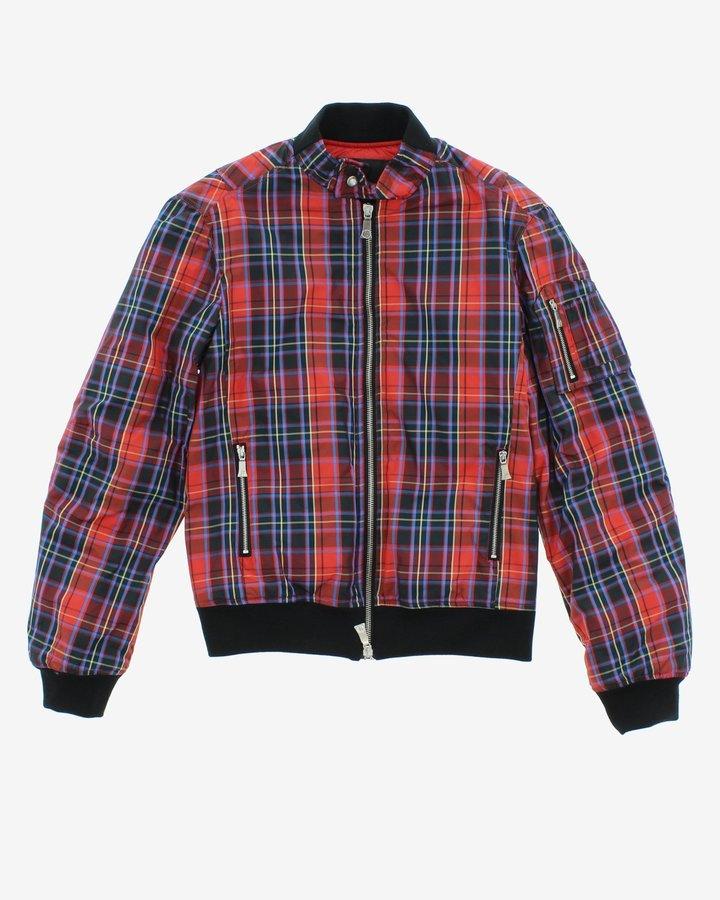 Červeno-modrá chlapecká bunda John Richmond - velikost 116