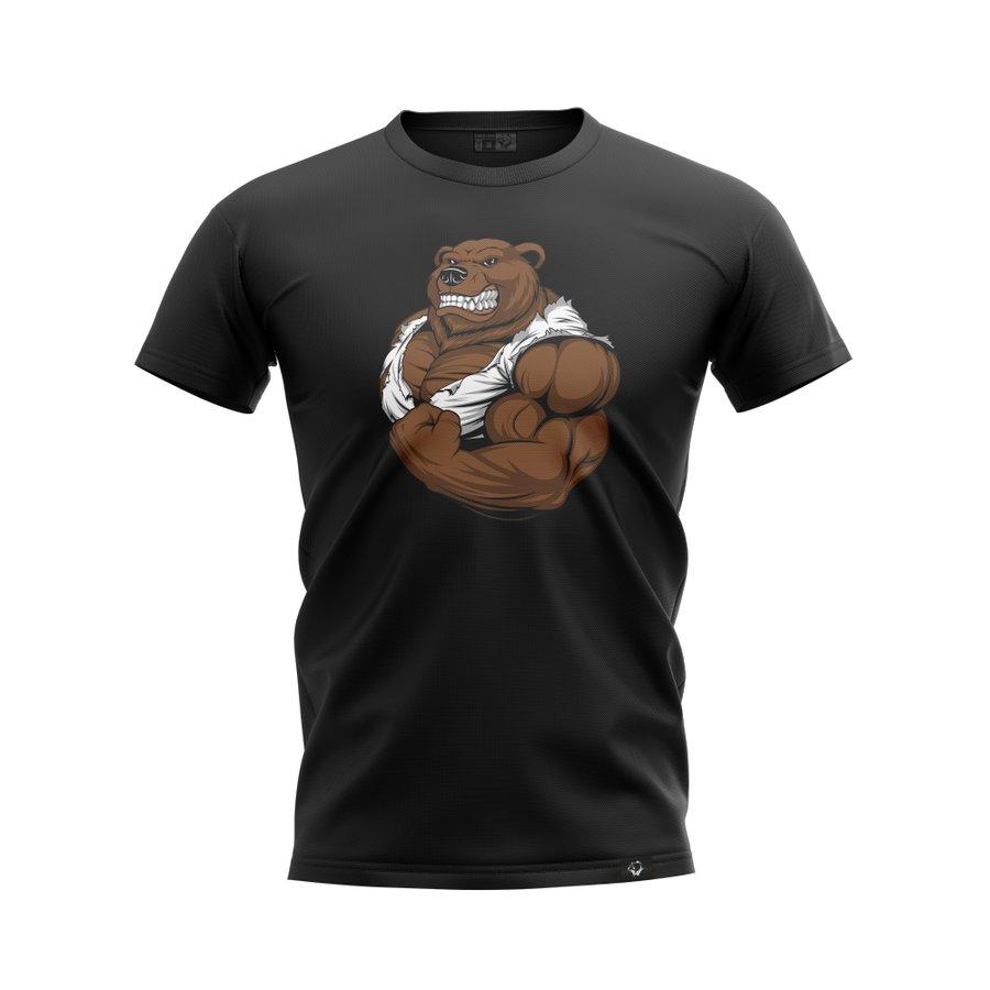 Černé pánské tričko s krátkým rukávem Grizzly Gear