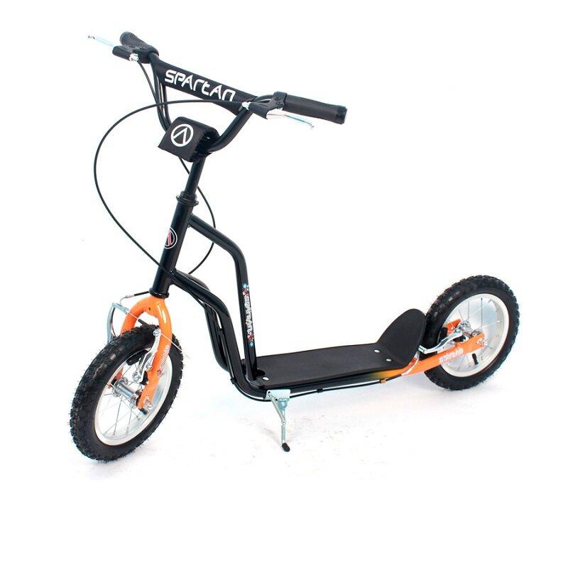 Černo-oranžová dětská koloběžka Premium, SPARTAN SPORT - nosnost 90 kg