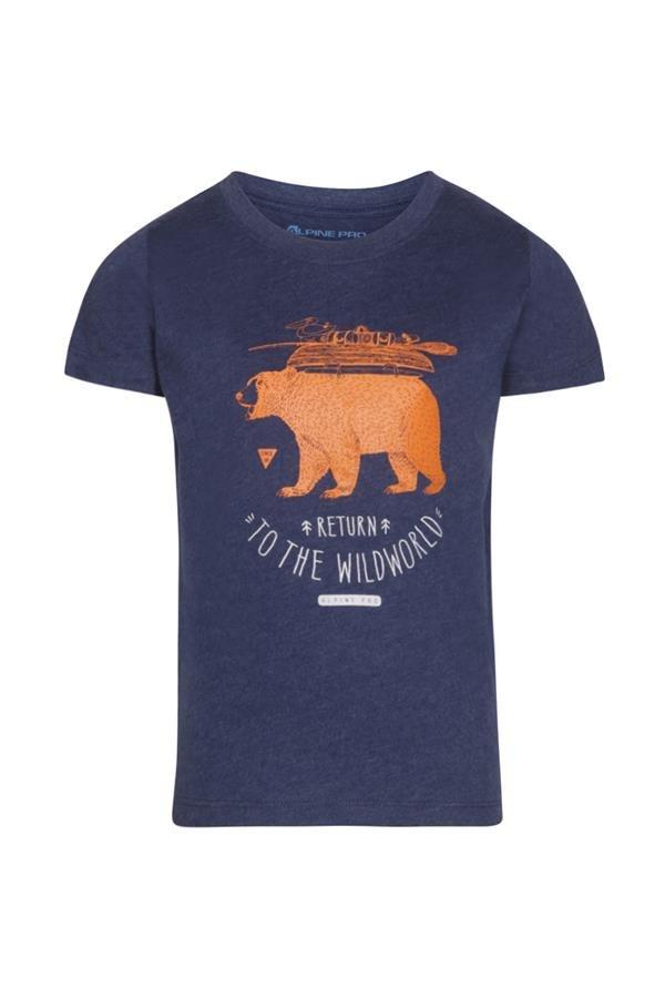 Modré dětské tričko s krátkým rukávem Alpine Pro