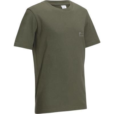 Zelené dětské lovecké tričko Solognac