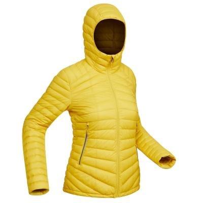 Žlutá dámská turistická bunda Forclaz - velikost L