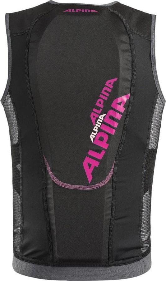 Černo-růžový dívčí chránič páteře na lyže Alpina Sports - velikost 152-158