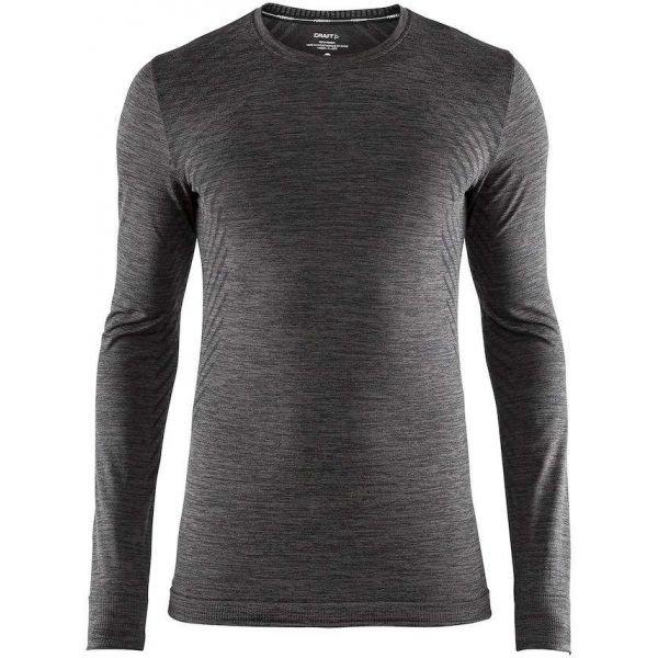 Šedé pánské funkční tričko s dlouhým rukávem Craft
