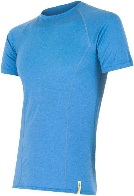Modré pánské tričko s krátkým rukávem Sensor - velikost S