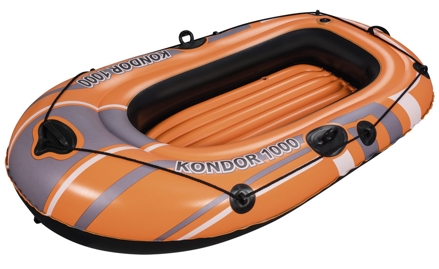 Oranžový nafukovací člun s nafukovacím dnem Bestway