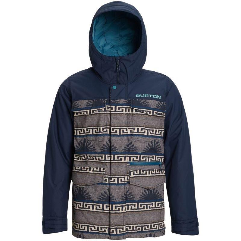 Modro-šedá pánská snowboardová bunda Burton