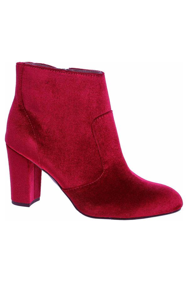 Červené dámské zimní boty s.Oliver